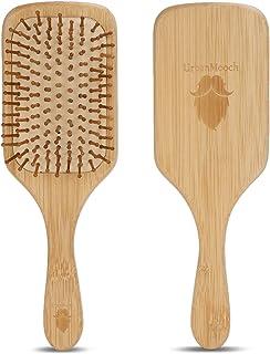 UrbanMooch Wooden Bamboo Hair Brush, Detangling Brush, Eco Friendly Paddle Hairbrush, for Thin, Long, Curly Hair, Stimulat...