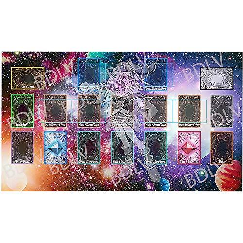 Tapete de Juego YuGiOh Tapete de Juego Personalizado Regla Maestra 4 Zonas de Enlace Tapete de Juego Personalizado Dark Magician Girl - MTG TCG Tapete de Juego Vanguard de YuGiOh