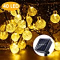 B-right Solar String Lights Outdoor, 40 LED 25ft Solar Powered Crystal Ball String Lights Waterproof for Halloween, Christmas, Home, Patio, Garden, Wedding and Party