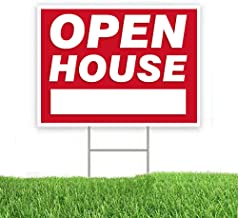 wall26 Custom Double Side Yard Sign with H Stand Real Estate Open House Sign 24x18 inches, H Stand 10x30 inches