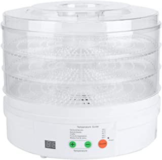 Shipenophy Simple Fruits Dehydrator 3 Couches Kitchen Tools Cycle de Chauffage à 360 degrés, Food Dehydrator Electric for ...