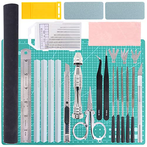 Keadic 43Pcs Gundam Modeler Basic Tools Craft Set for Professional Gundam Model Assemble Building