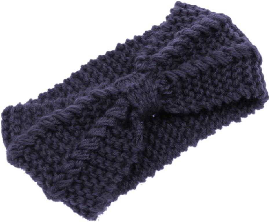 Eforstore Wool Knitted Crochet Bow Winter Headband Ear Warmer Women Lady Girl