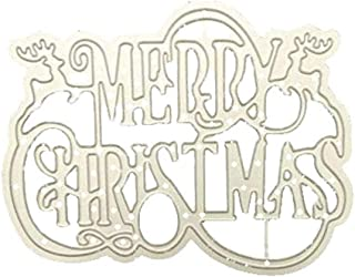 Metal Cutting Dies Christmas Words Stencil Metal Merry Christmas Die Cut DIY Scrapbooking Paper Card Stencil Album (Christmas H, As Shown)