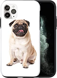Desconocido iPhone 12 Pro MAX Funda, Happy Pug AS011_1 Caso per iPhone 12 Pro MAX Protector, Gorgeous Phone Cover, Luxury ...