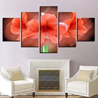 Grybeart Canvas Painting 5 Pieces Printed Hd Picture Decoration Home Living Room Or Bedroom Wall Flower Still Life Art Mod...