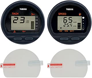 Console Guard Boat Gauge Screen Protector for Yamaha Outboard Round Digital Multi-function Tachometer, Speedometer, and Fuel Management, Sun Protector, Anti-Scratch, HD Clear [2-pack]