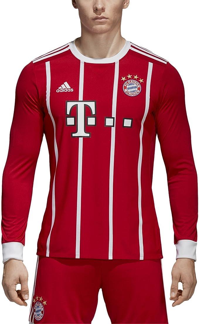 Adidas FC Bayern München Home Maglia a Maniche Lunghe [Fcbtru]