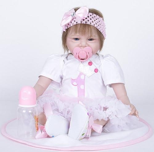 LIJUN Reborn Puppe Spielzeug Puppe Simulation Silikon Puppe 55cm,A