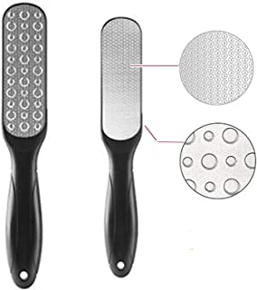 Foot File, Double-Sided Colossal Foot Rasp Foot File and Callus Remover to Remove Hard Skin, Best Foot Care Pedicure Tool, Fit Wet And Dry Feet (1 Pack/Black)