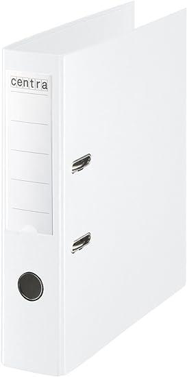 Centra - Archivadores de palanca con anillas, plástico, lomo de 75 mm, tamaño A4, 10 unidades, color blanco: Amazon.es: Oficina y papelería
