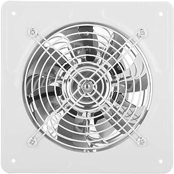 Ventilateur d'Évacuation d'Air à Fenêtre à Faible Bruit Fixé au Mur 40W 220V pour Salle de Bains Cuisine Garage(White)