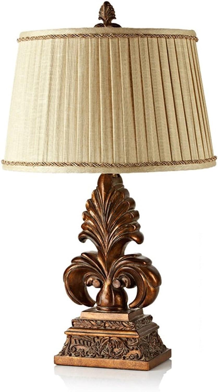 GJ- Europäische Luxus-Tischlampe American Pastoral Retro Tischlampe Hotel-Dekoration Tischlampe Schlafzimmer Nachttischlampe (größe   M) B078V3GNFN       München Online Shop
