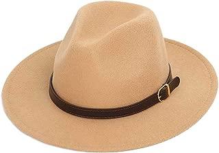 Men Wool Shallow Fedora Warm Adjustable Unisex Belt Gold Buckle Men Classic Bowler Jazz hat
