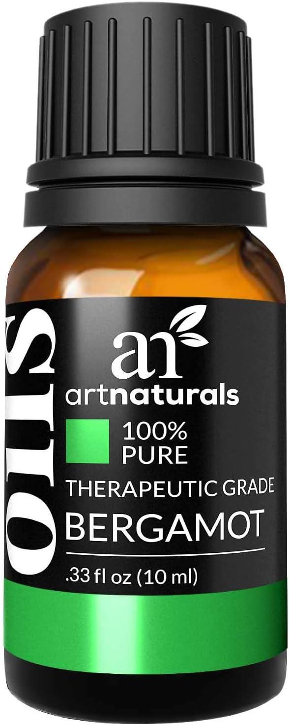 artnaturals 100% Pure Bergamot Essential Oil - (.33 Fl Oz / 10ml) - Undilued Therapeutic Grade Citrus Fragrance- Uplift Wellness and Refresh - for Diffuser Hair Skin and Soap Making