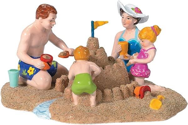 2003 A Day At The Beach Snow Village Figurine