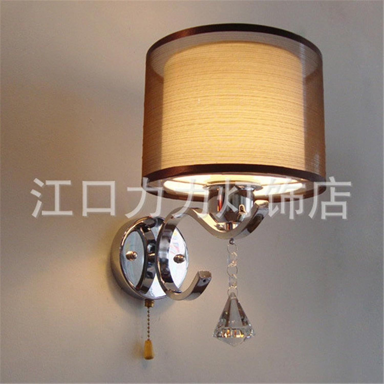 MOM Wandleuchte - Minimalistische Schlafzimmer Schalter Nachttischlampe warme und romantische Stoffe Bar Led Nachttischlampe Hotel Villa Zimmer Gang Tür Dekoration Licht