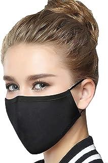 10 Pieces Cotton Unisex Reusable Dust_Masks Washable Face_Mask Fashion Cover Anti-dust Mouth Face Protect Cover Bandana Balaclavas (Black)