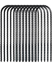Trampolines wind stakes heavy duty u type scherpe uiteinden veiligheid grond anker gegalvaniseerd staal voor voetbaldoelen, trampoline stakes u vormige ankers voor camping, tuin decoratie