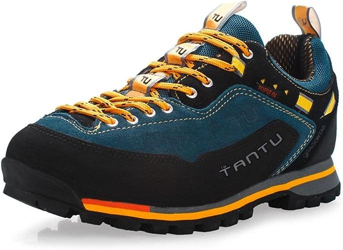 RDJM Chaussures de sport pour hommes en plein air imperméable chaussures de randonnée occasionnels chaussures de course chaussures d'alpiniste