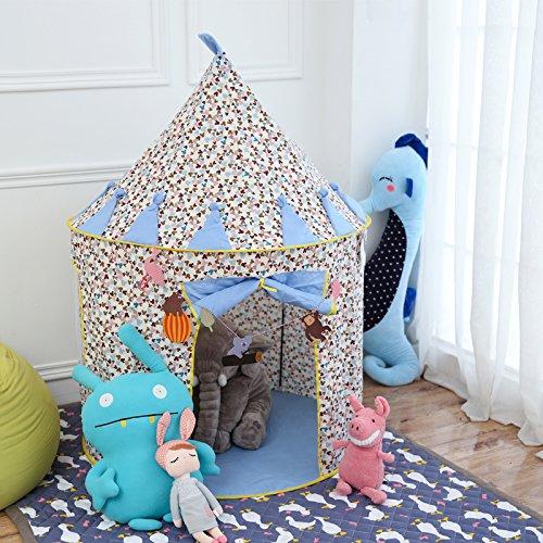 Vplay Kinder Bällebad Zelt Baumwolle Spielzelt (Blau)