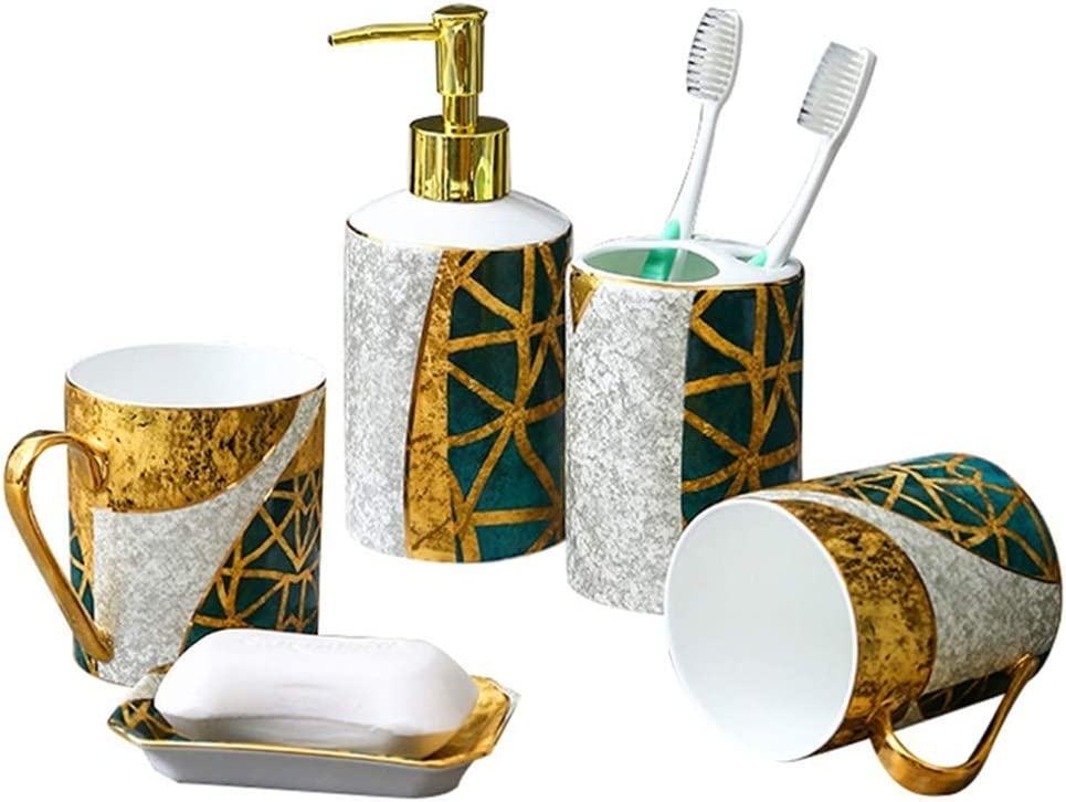 PIAOLING Quality Bathroom Over item handling ☆ Accessories Set Style lowest price European 5-Piece
