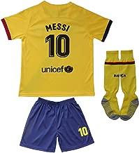 Da Games Youth Sportswear Barcelona Messi 10 Kids Away Soccer Jersey/Shorts Football Socks Set