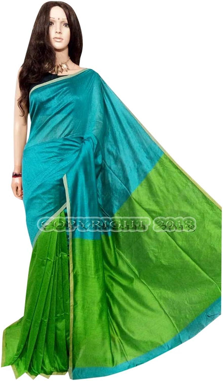 Indian Ethnic bluee Green Designer Collection Hit Handloom Saree Party Wear Sari 123a