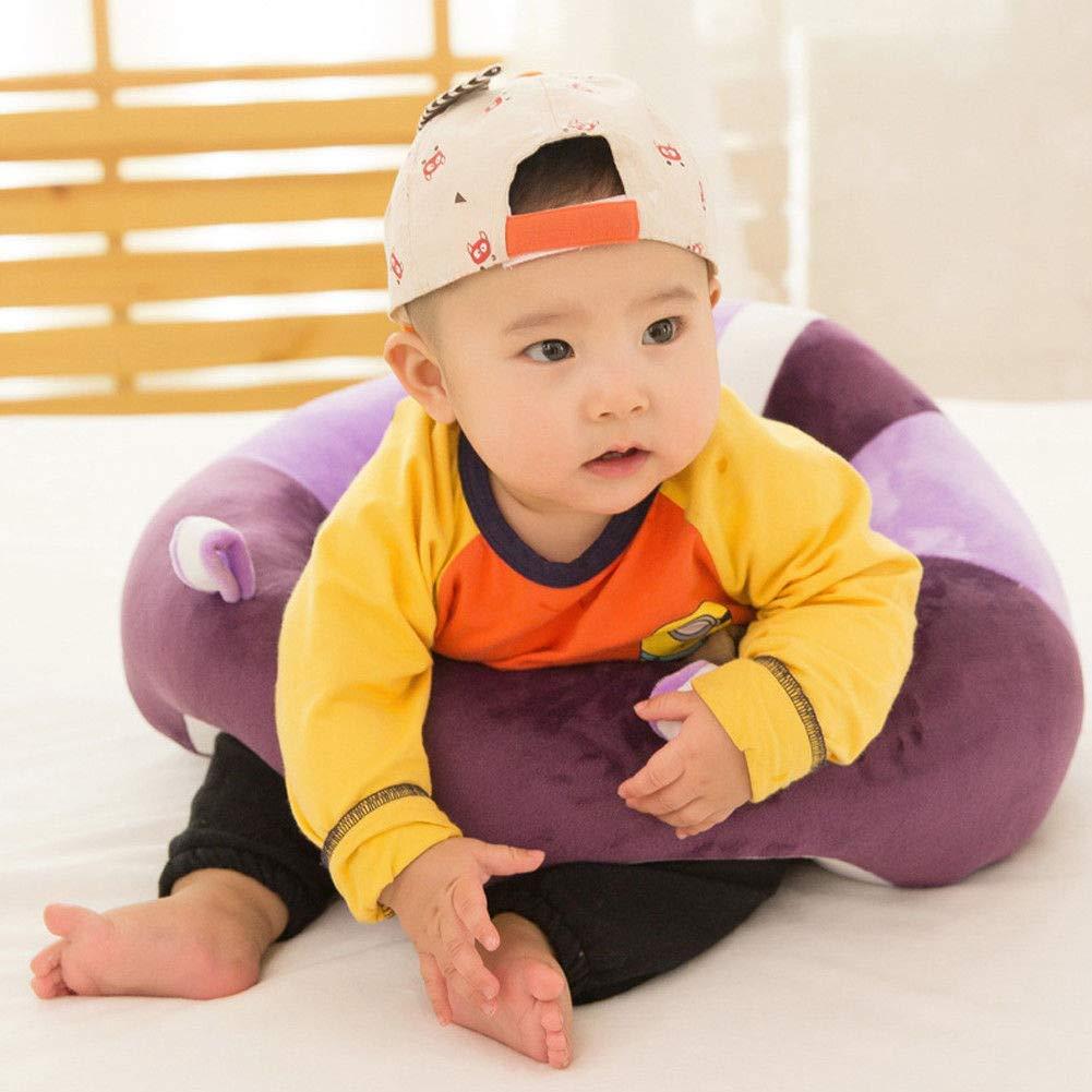 Blue Baby Plush Sofa Seat Toddler Nursery Support Seat Plush Pillow Toys Bean Bag Chair Cushion