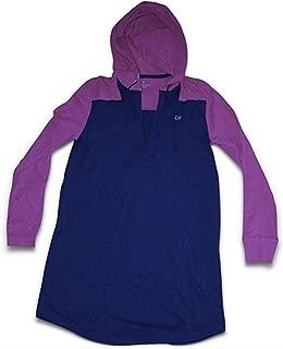 Vineyard Vines Women's Long Sleeve Hoodie Cover-Up Dress (Medium) Blue/Raspberry