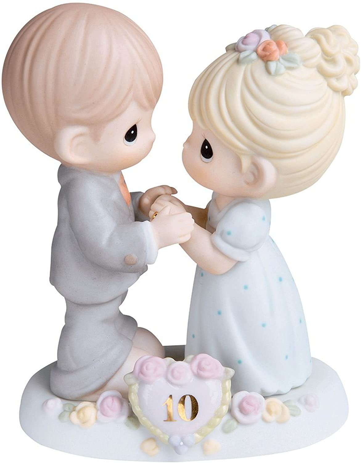 Precious Moments,  A Decade Of Dreams Come True - 10th Anniversary, Bisque Porcelain Figurine, 730007