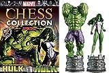 Colección Ajedrez Marvel Comics Marvel Chess Collection Edición Doble Hulk & She Hulk
