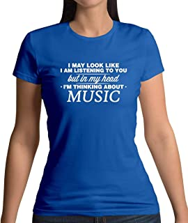 in My Head Im Music - Womens T-Shirt - 13 Colours