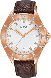 Alba Leather Casual Watch For Women , AG8H66X1