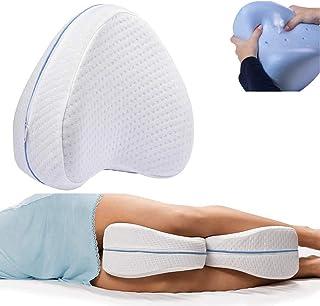 Cojín para Rodilla, Almohada de piernas, cojín para Las piernas de Espuma transpirable con efecto memoria, almohadas para Piernas para Dolor en la Pierna, Embarazo y Dolor en Las articulaciones