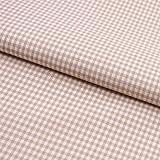 Hans-Textil-Shop Stoff Meterware Vichy Karo 2x2 mm Beige