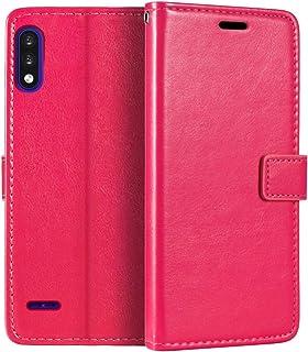 Capa carteira para LG K22, capa flip magnética de couro sintético premium com suporte para cartão e suporte para LG K22+