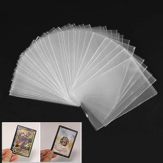 comprar comparacion Cuigu Lote de 100 fundas mágicas transparentes para proteger los naipes de los juegos de cartas, como póquer, tarot, Tres ...