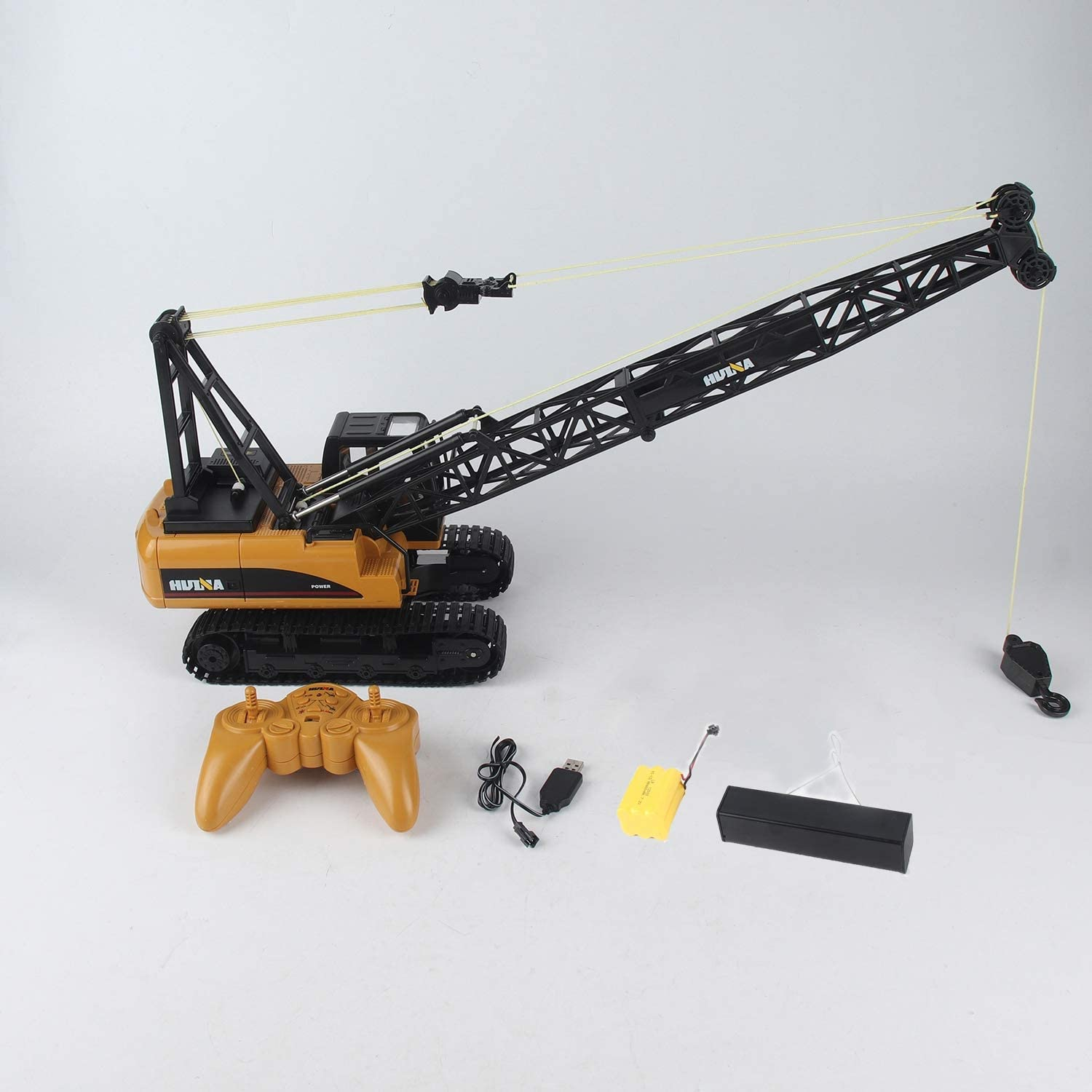 RC Crane HUINA 1572 15ch RC Alloy Crane 1 14 2.4GHz Engineering Movable Latticed Boom Hook Mechanical Truck Toy Car with Sound Light