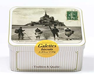Maison Peltier, French Butter Cookies (Galettes), 150g Tin