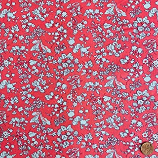 Liberty Quilting: Orchard Garden -Fruit Silhouette Y Pink (Lasenby Cotton) - Sold by The Yard