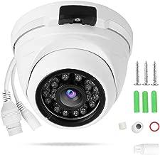 Cámara de seguridad para el hogar, 1080p Cámara de Vigilancia de alámbrica de cúpula y metalcon infrarrojos IP para exteriores