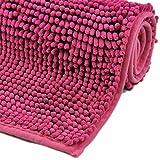 WohnDirect Badematte Pink • Badezimmerteppich zum Set kombinierbar, rutschfest &...