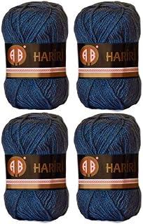 4X AB Hariri Dark Blue Colour No.111 Crochet and Knitting Yarn