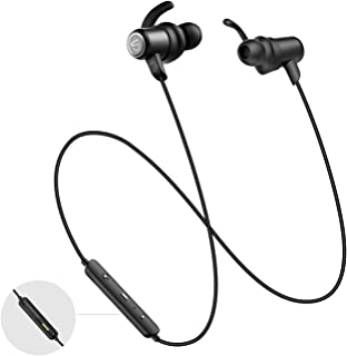 SoundPEATS Q35HD Bluetooth 5.0 Headphones IPX8 Sweatproof Earphone, Wireless Earbuds with Magnetic Charging Contactor, APTX CVC Noise Cancellation, 14 Hours Playtime, Sports Earbuds Built-in Mic