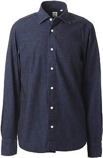 FINAMORE フィナモレ ワイドカラーシャツ/LUIGI GENOVA メンズ [並行輸入品]