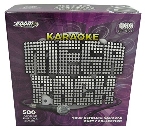 Zoom Karaoke Megapack - 500 of the Greatest Ever Karaoke Songs - 26 CD+G Discs [Clamshell Box]