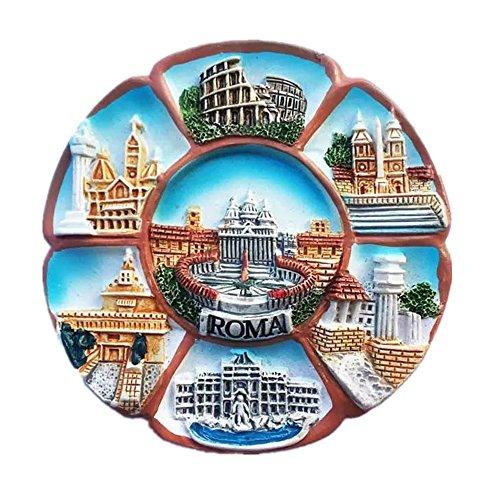 Piazza San Pietro/Coliseo Roma Italia Mundial Resina 3d Fuerte Imán de Nevera Regalo Turístico Imán Chino Hecho a Mano Artesanía
