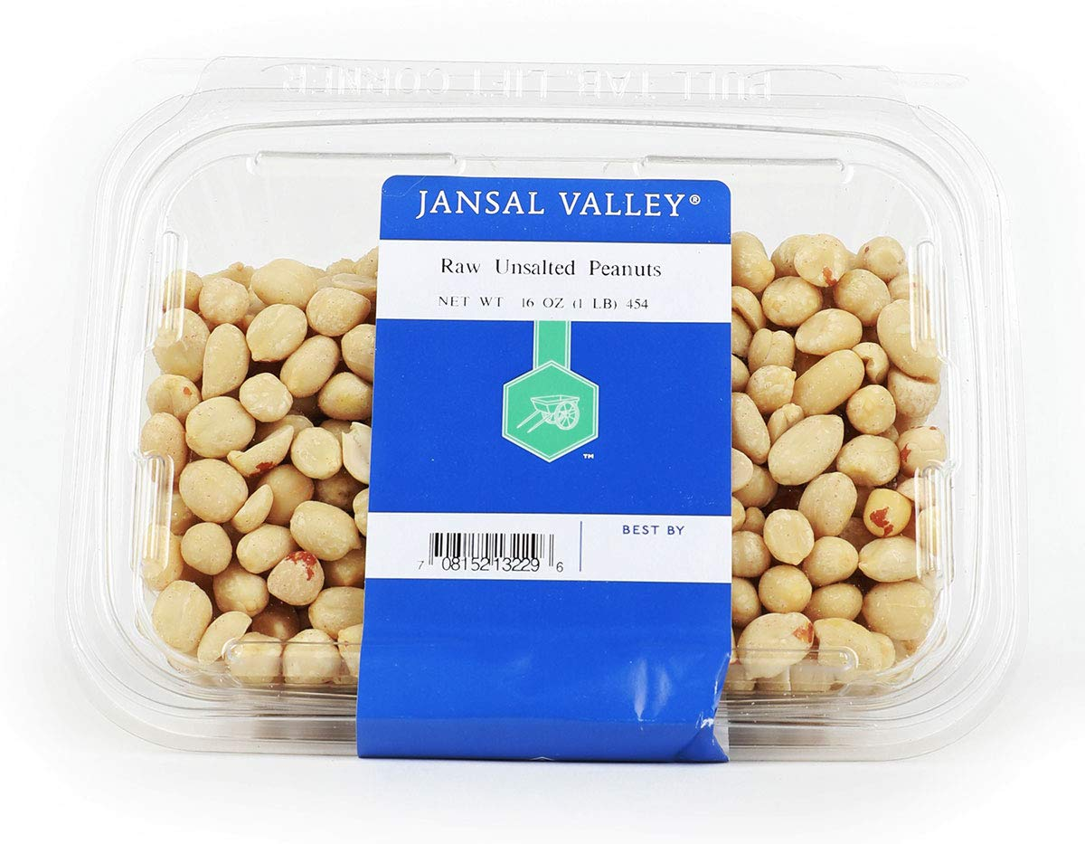 Jansal Luxury goods Valley Raw Unsalted 1 Peanuts Opening large release sale Pound