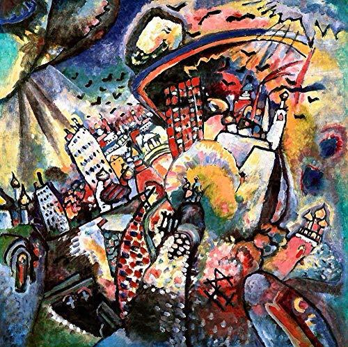 ZZPINTT Puzzle,1000 Pezzi Multicolore Adulti 3D DIY Creativo Collection Piazza Rossa Mosca Kandinsky Decorazione Domestica Regalo per Bambini 75x50cm